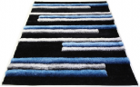 3d grey blue shiny rug