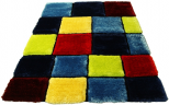 3d red blue green rug