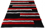 3d red shiny rug