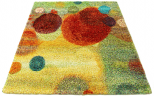 multi coloured rug bubbles circles