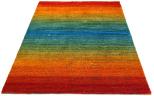 textured rainbow rug
