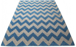 chevron rug blue