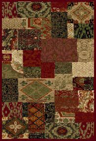 rug woven b red