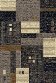 rug woven c grey
