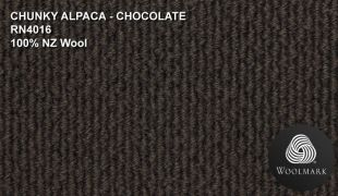 Thick chunky Alpaca Wool chocolate brown