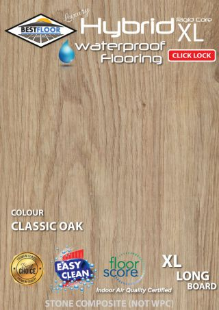 hybrid ultimete vinyl click flooring classic oak free underlay wholeasle cheapest