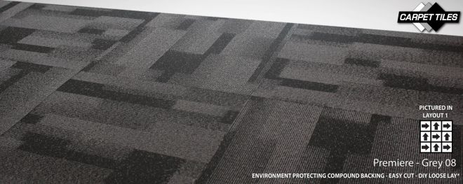 PREMIERE wholesale nylon carpet tile Grey 08